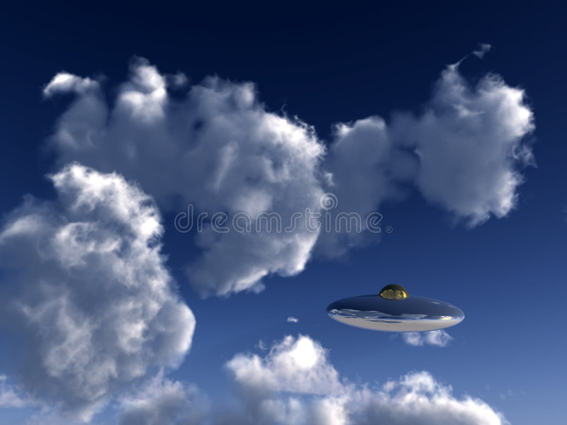 Download UFO In Sky 5 stock illustration. Image of disc, machine - 3130627