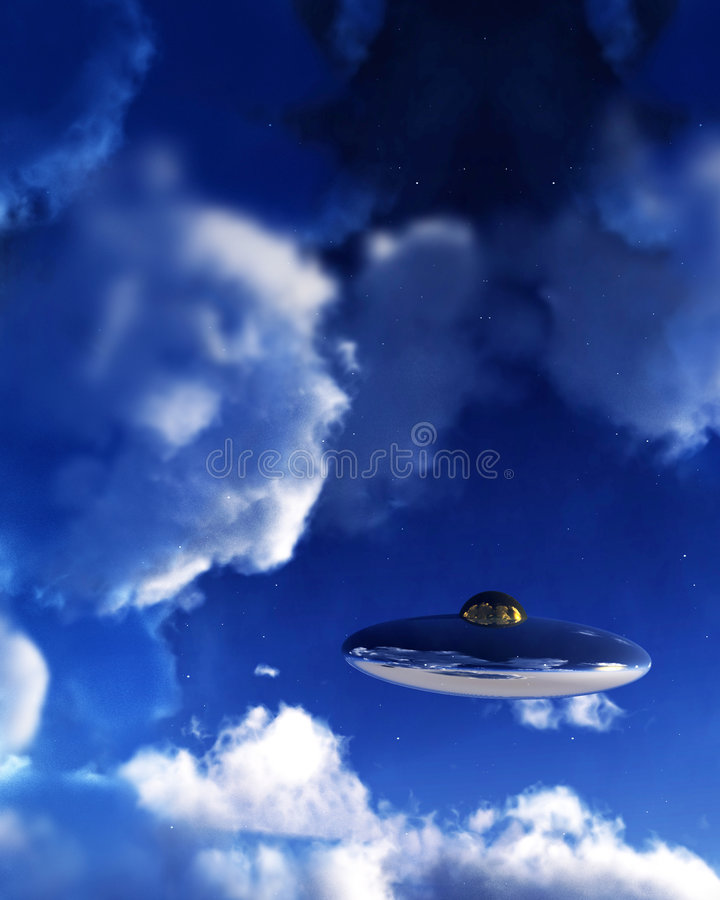 Download UFO In Sky 5 stock illustration. Image of flying, daylight - 3641433