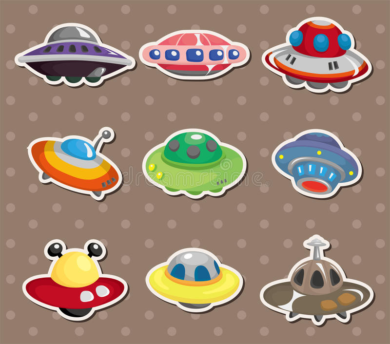 Ufo stickers royalty free illustration