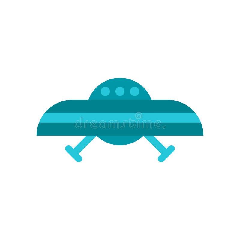 Ufo-symbol på vit bakgrund royaltyfri illustrationer