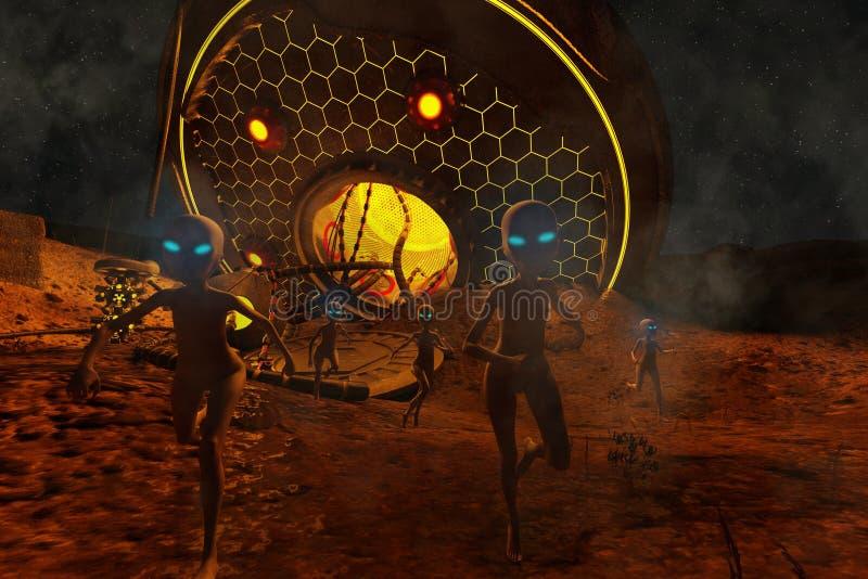 UFO trzaski ilustracji
