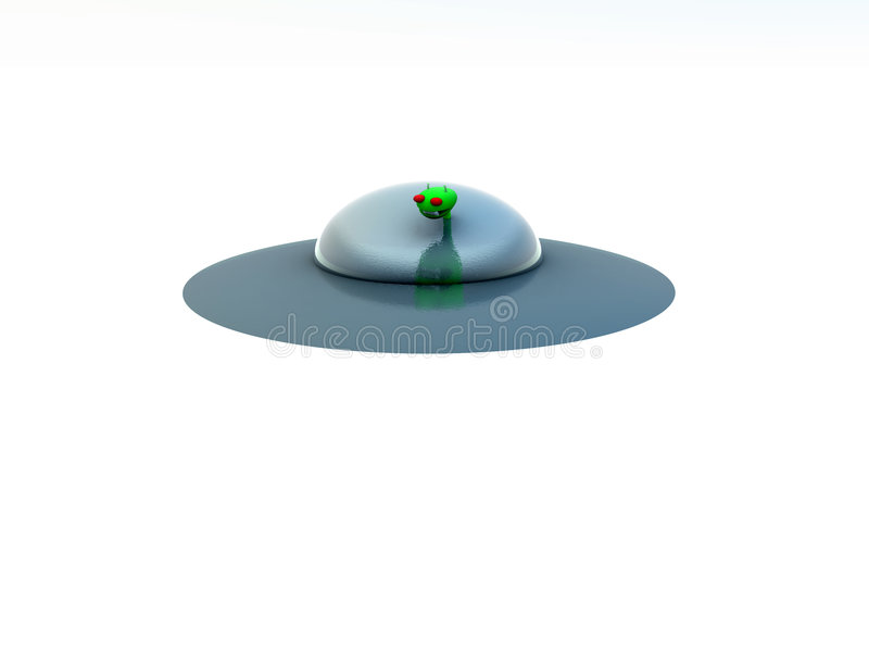 UFO Unosi się ilustracja wektor