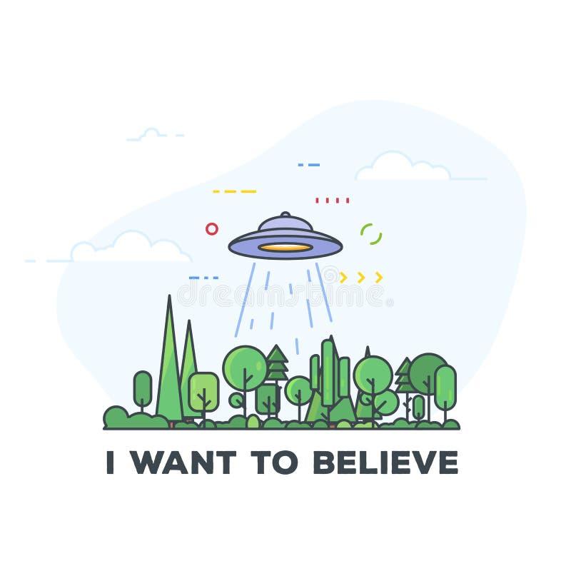 UFO uprowadzenia ilustracja ilustracji