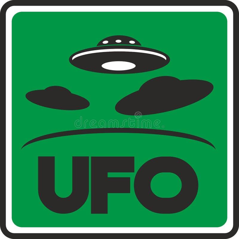 UFO verde extranjero del ejemplo imágenes de archivo libres de regalías