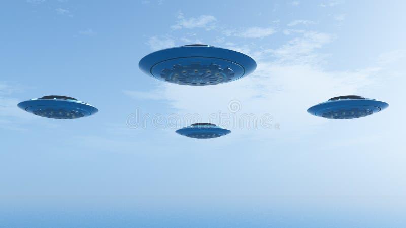 UFO in Vorming vector illustratie