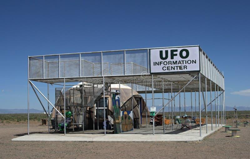 UFO-Wachturm und -Informationsbüro in Colorado stockfoto