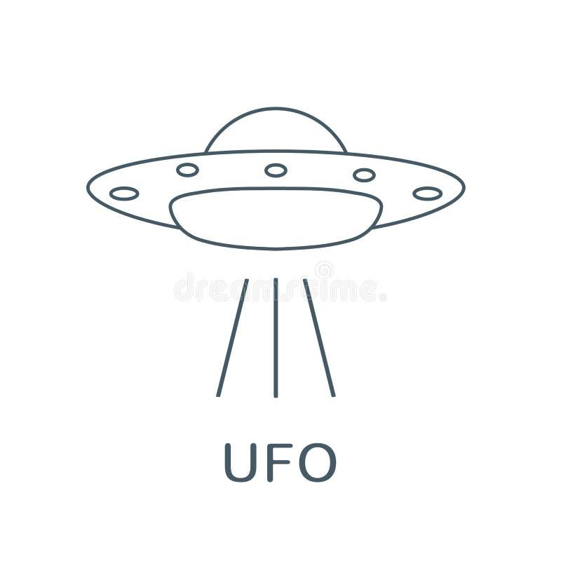 UFO wektoru ikona statek obca przestrzeń Światowy UFO dzień ilustracji