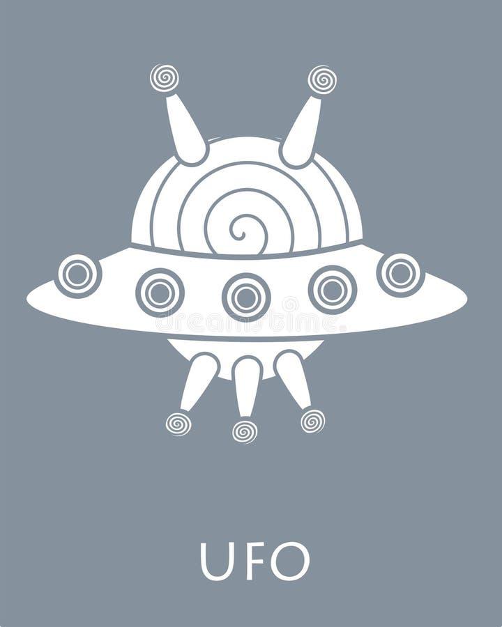 UFOgrijs en wit stock afbeeldingen