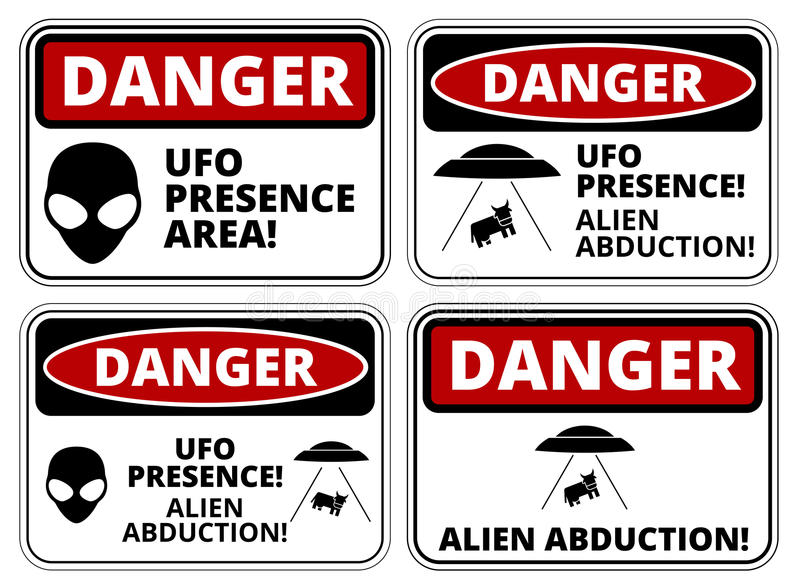 UFOschepen stock illustratie