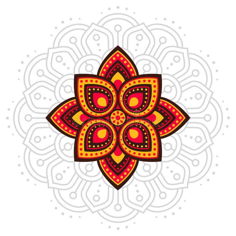 Ugadi en mandalalijn van Gudi Padwa stock illustratie