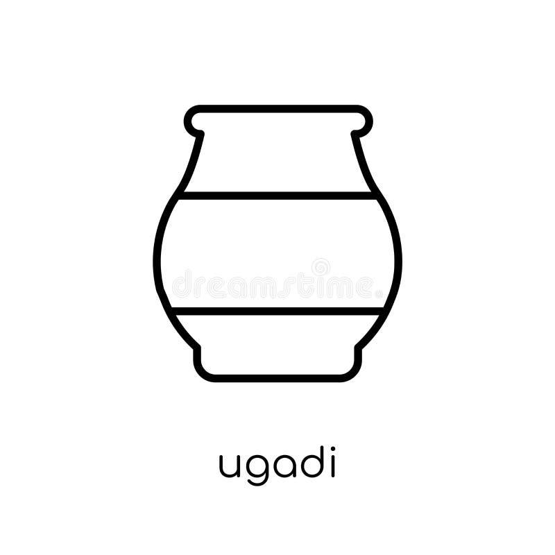 ugadipictogram In modern vlak lineair vectorugadipictogram op wit vector illustratie