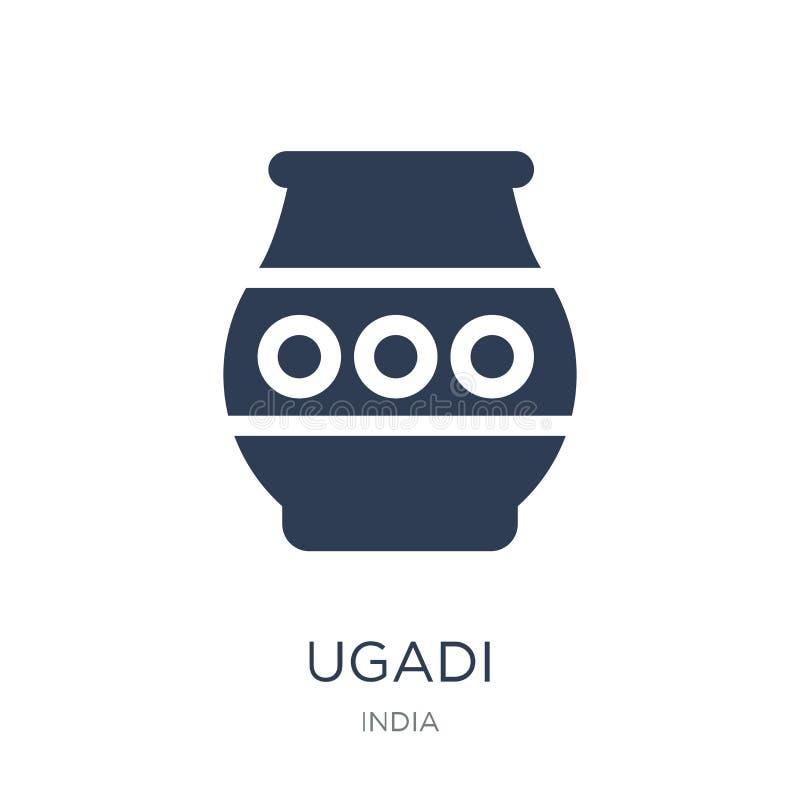 ugadisymbol Moderiktig plan vektorugadisymbol på vit bakgrund fr royaltyfri illustrationer