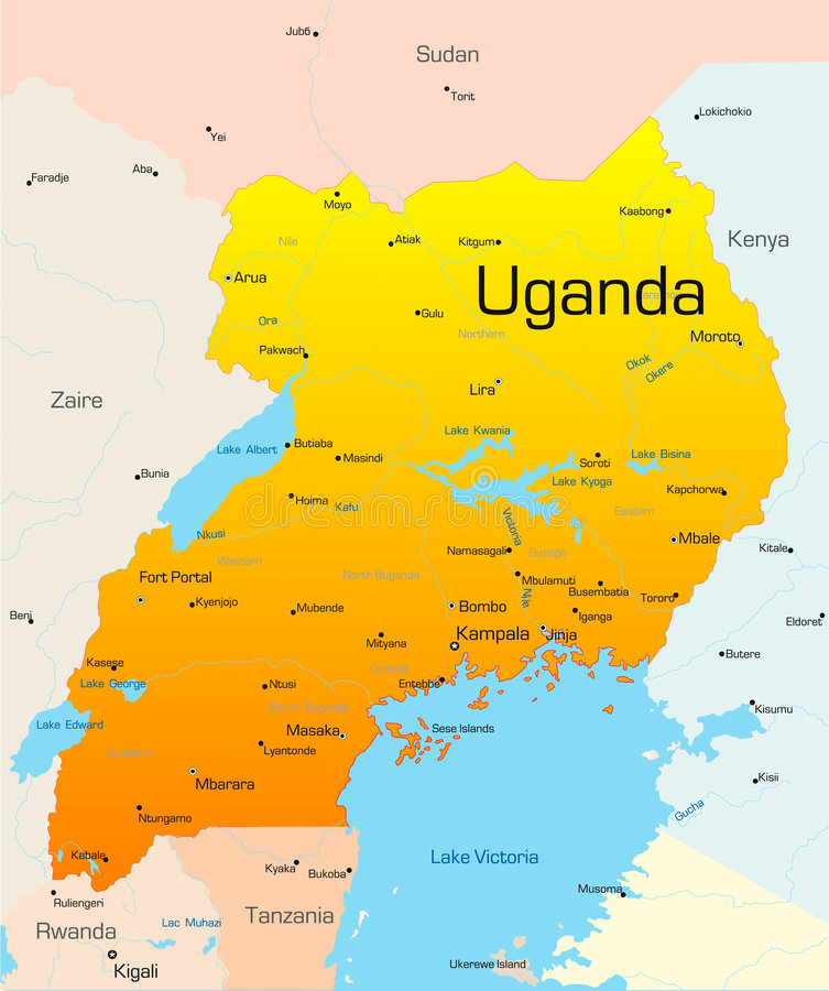 Uganda royaltyfri illustrationer