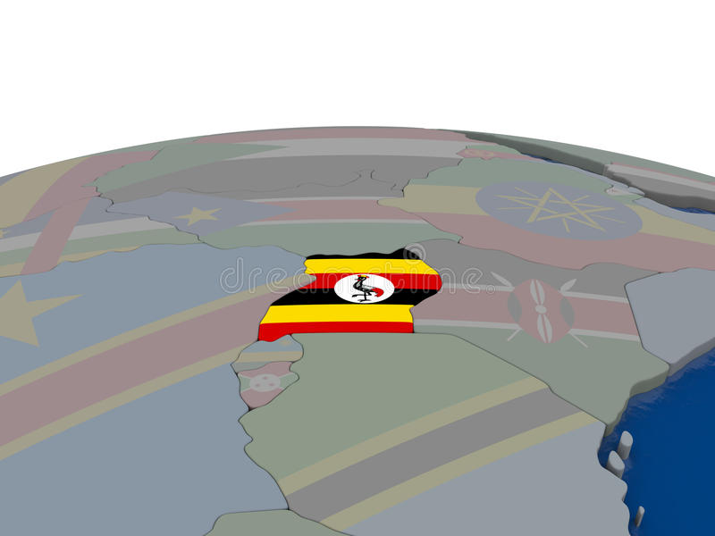 Download Uganda with flag stock illustration. Image of country - 83716344