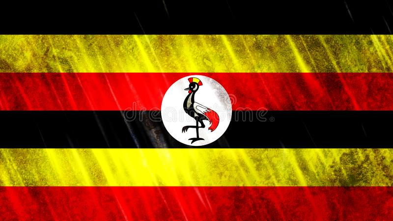 Uganda flagga arkivfoto