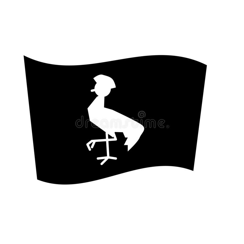 Uganda flaggasymbol  stock illustrationer