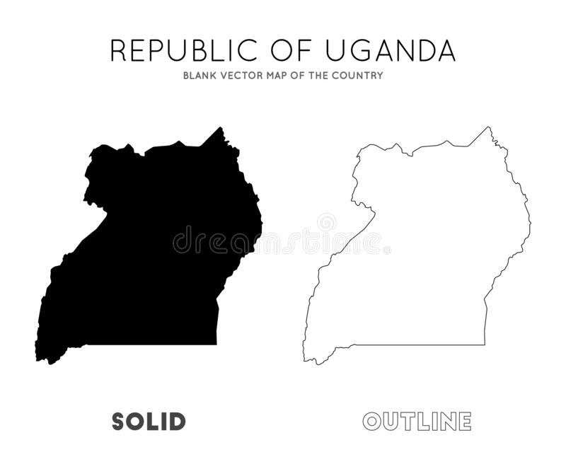 Uganda mapa royalty ilustracja