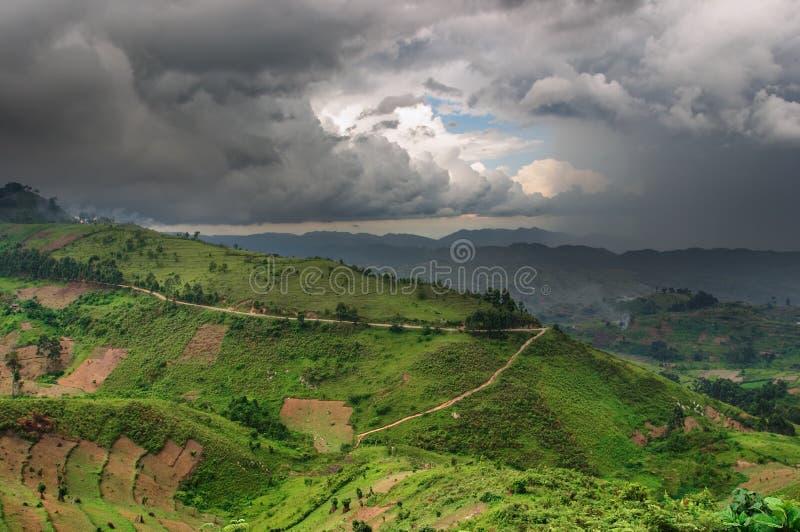 Uganda pora deszczowa zdjęcie royalty free