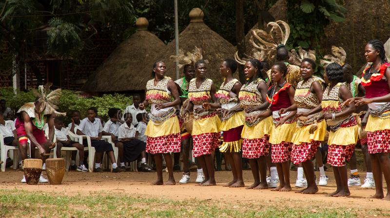 Ugandan Song and Dance Group Performs stock photo