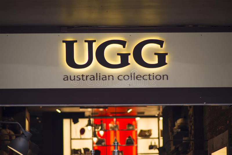 UGG store royalty free stock photos