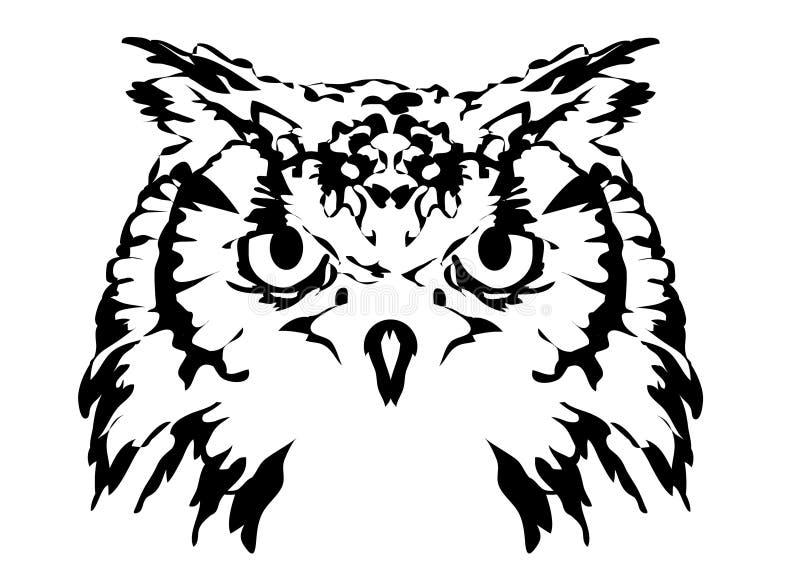 Uggla vektor illustrationer