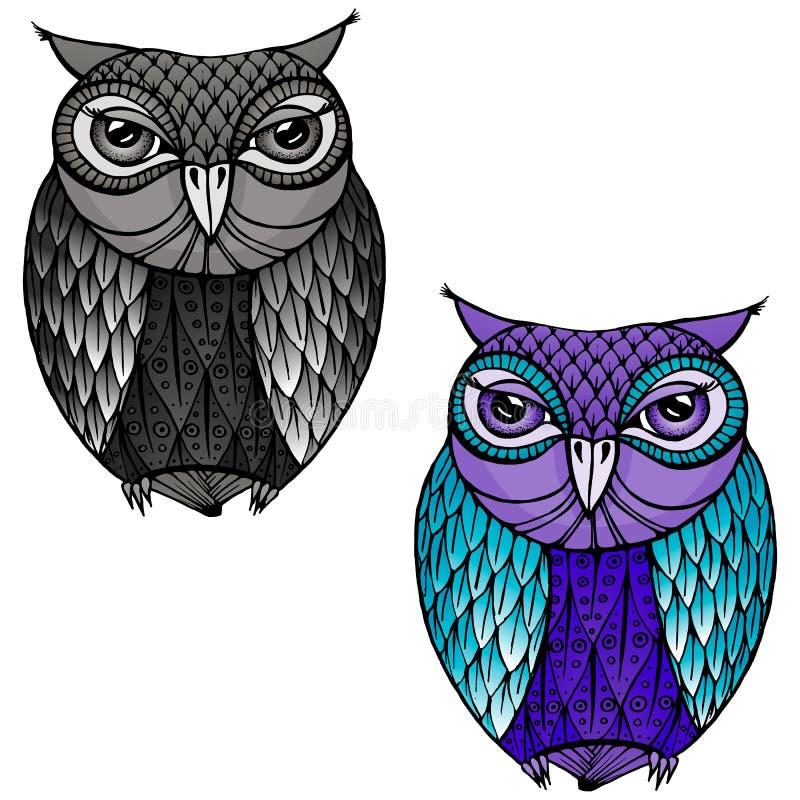 Uggla - illustration stock illustrationer