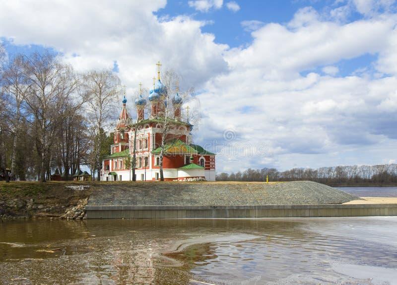Uglich kyrka av prinsen Dmitriy på blod arkivfoto