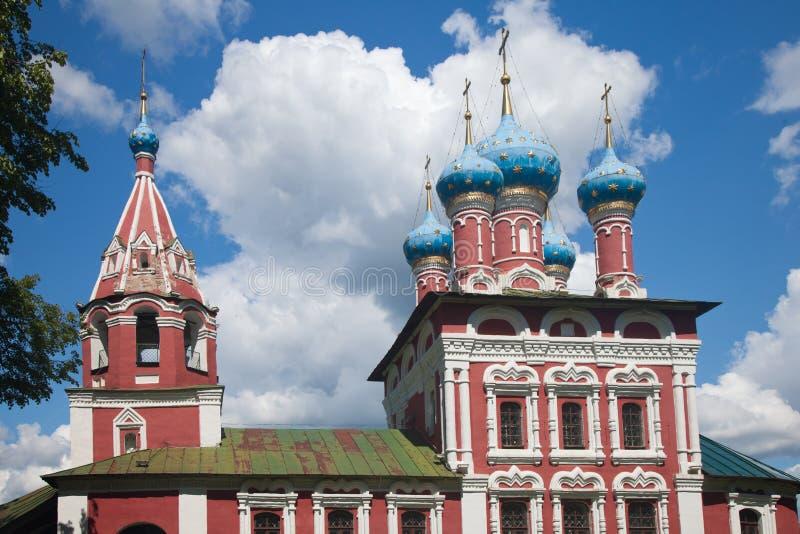Uglich La iglesia de Dimitri en sangre fotografía de archivo
