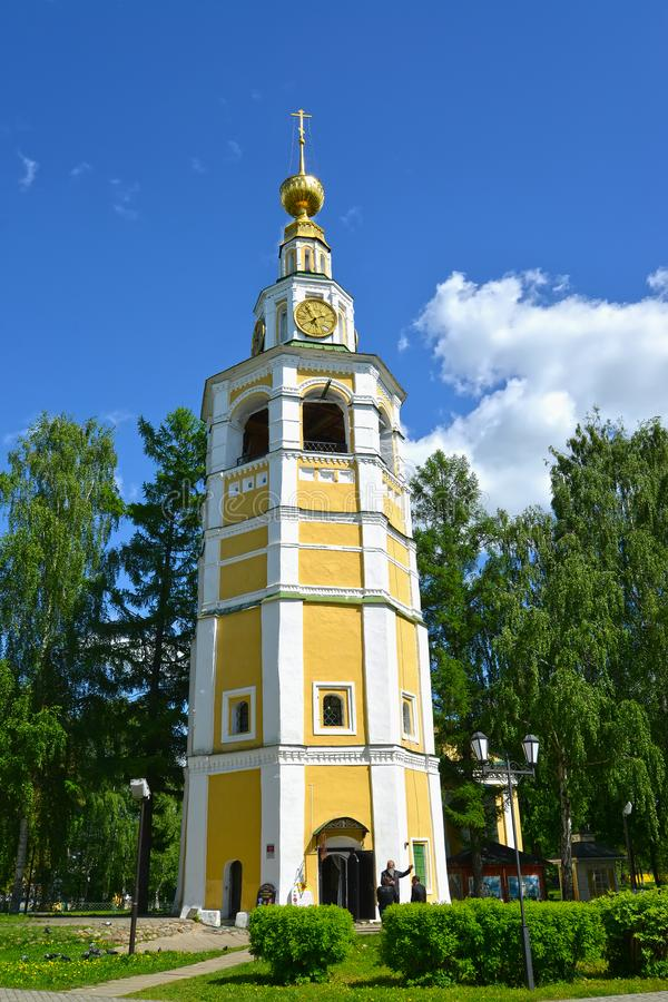 Uglich, Rússia Torre de Bell do Kremlin de Uglich, século XVIII Região de Yaroslavl fotografia de stock