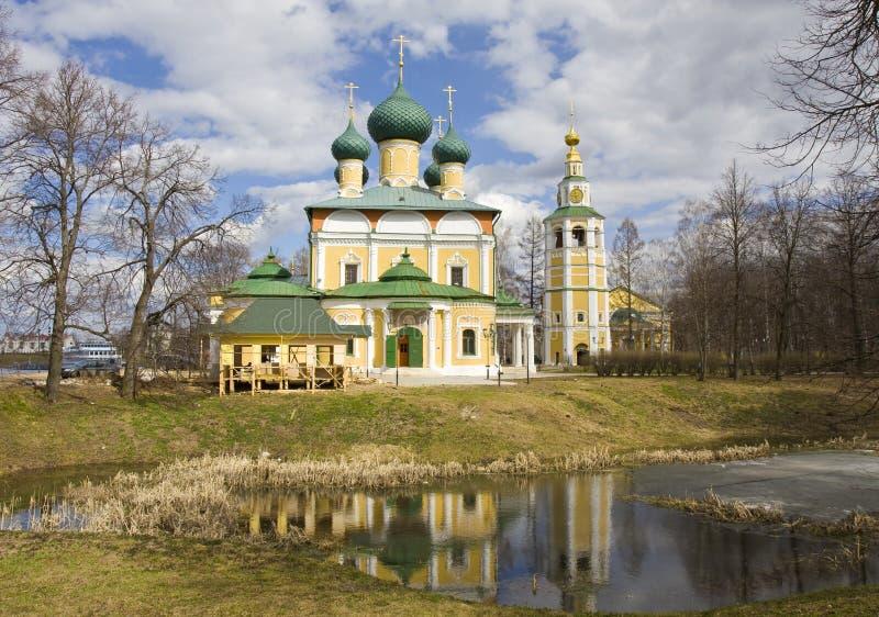 Uglich Ryssland, domkyrka av omgestaltning av Kristus fotografering för bildbyråer