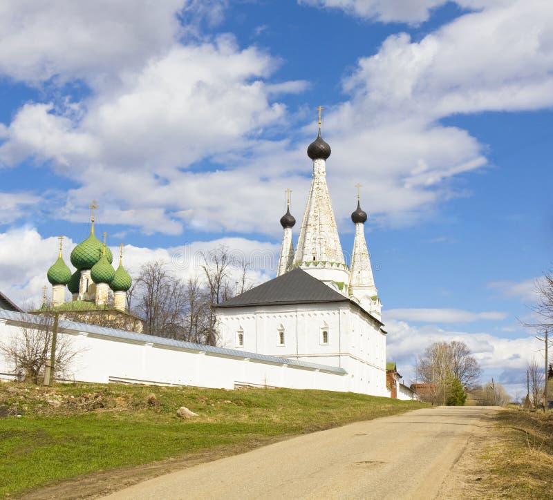 Uglich Ryssland, kloster av St. Alexey arkivfoton