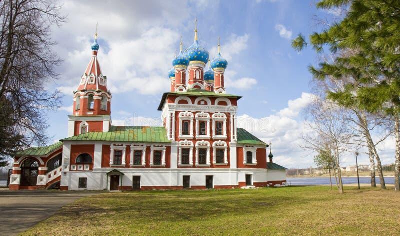 Uglich Ryssland, kyrka av prinsen Dmitriy på blod royaltyfri foto