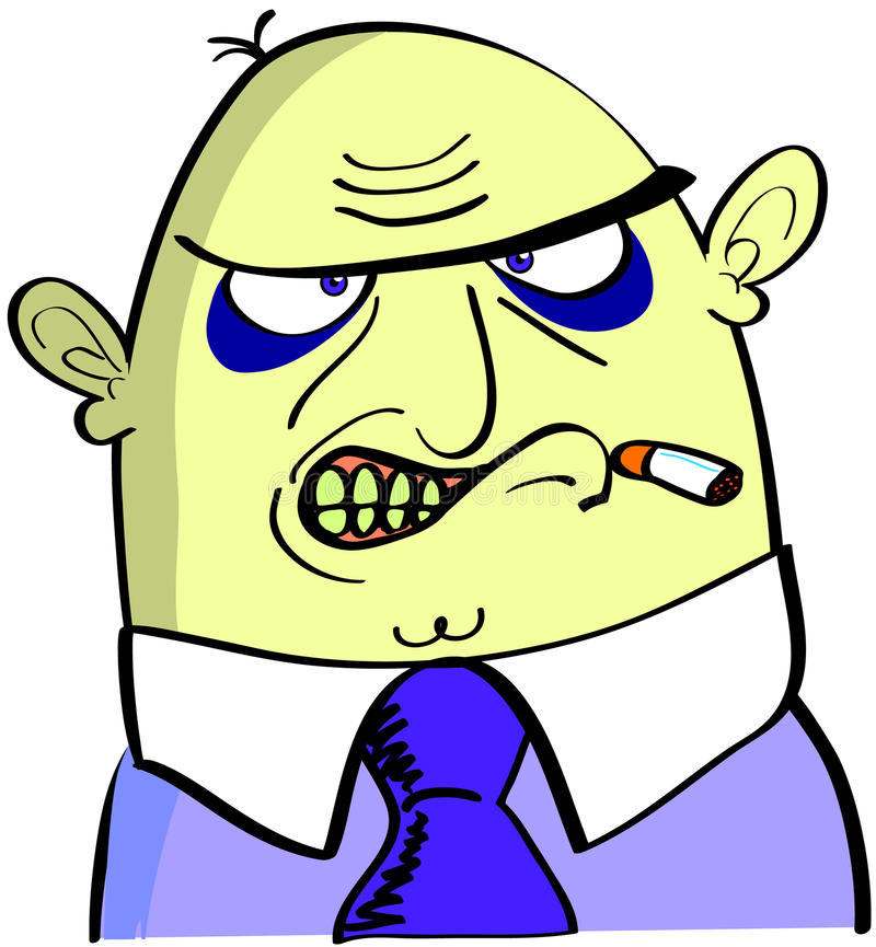 Download An ugly angry smoker stock illustration. Image of illustration - 12183223