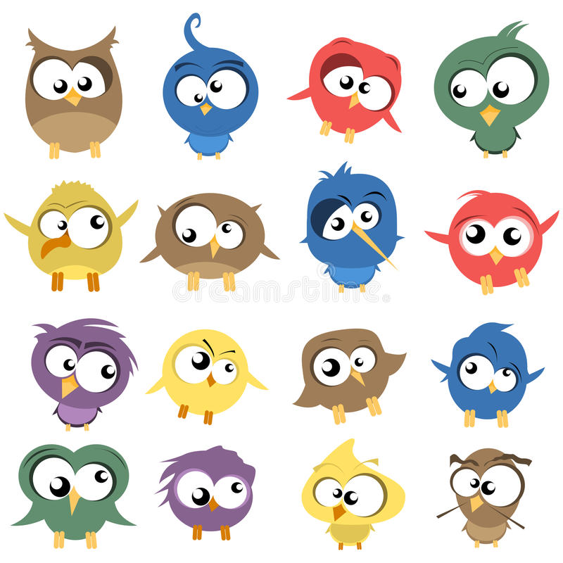 Download Ugly Birds stock vector. Image of twitter, twig, collection - 21523241