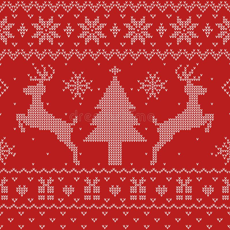 Free Ugly Christmas Sweater Seamless Pattern Royalty Free Stock Images - 130771619