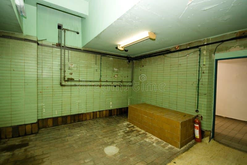 Download Ugly empty room stock image. Image of door, green, indoor - 26924145