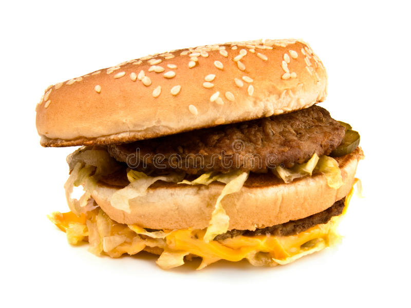 Ugly fat sandwich royalty free stock photography