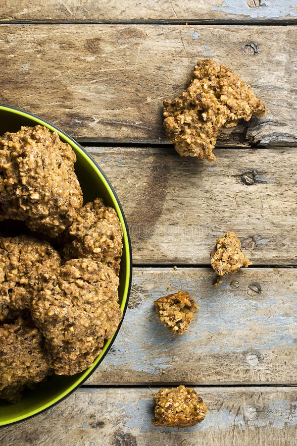 Ugly but Good Cookies Bowl royalty free stock photo
