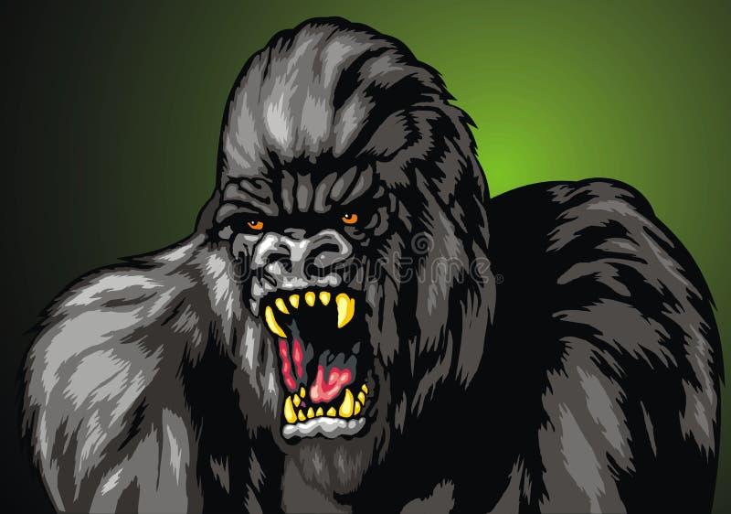 Ugly gorila monkey royalty free illustration