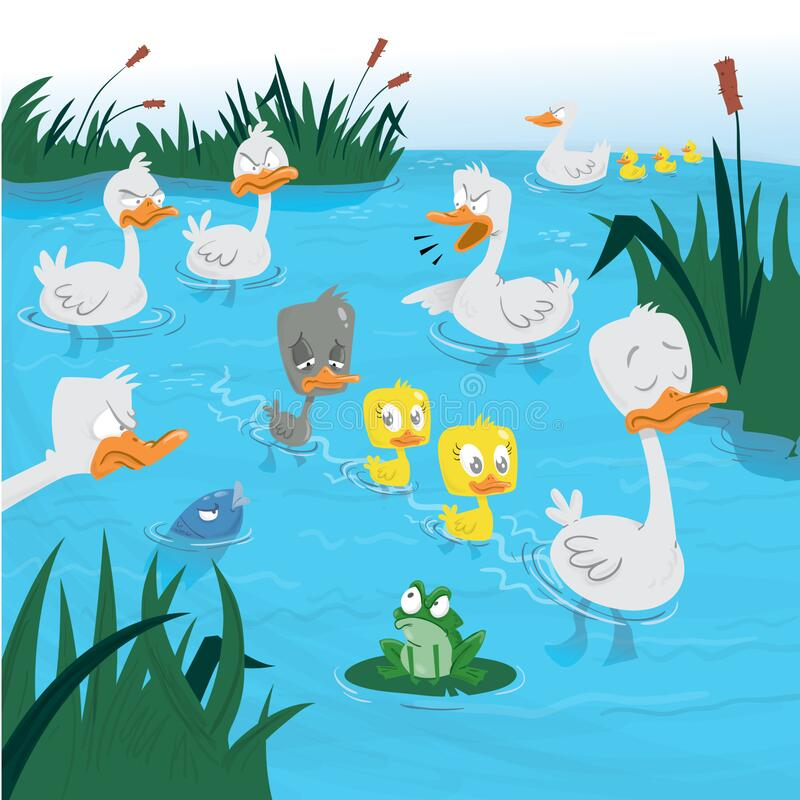 Free Ugly Little Duck Swiming In Water Royalty Free Stock Photo - 183212915