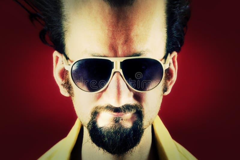 Ugly man big forehead creep royalty free stock image