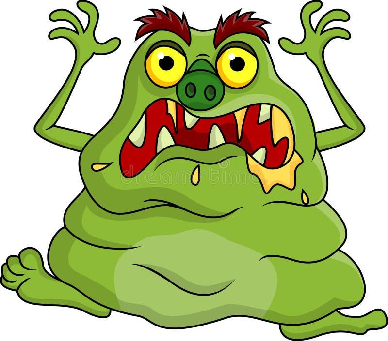 Ugly monster cartoon vector illustration
