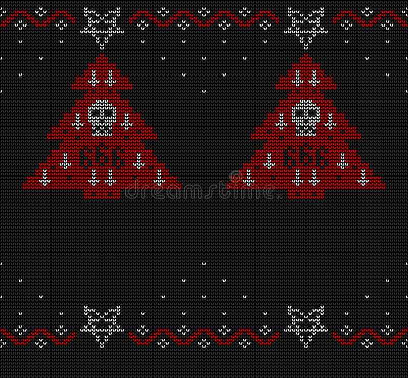 Ugly sweater knitted seamless pattern. vector illustration