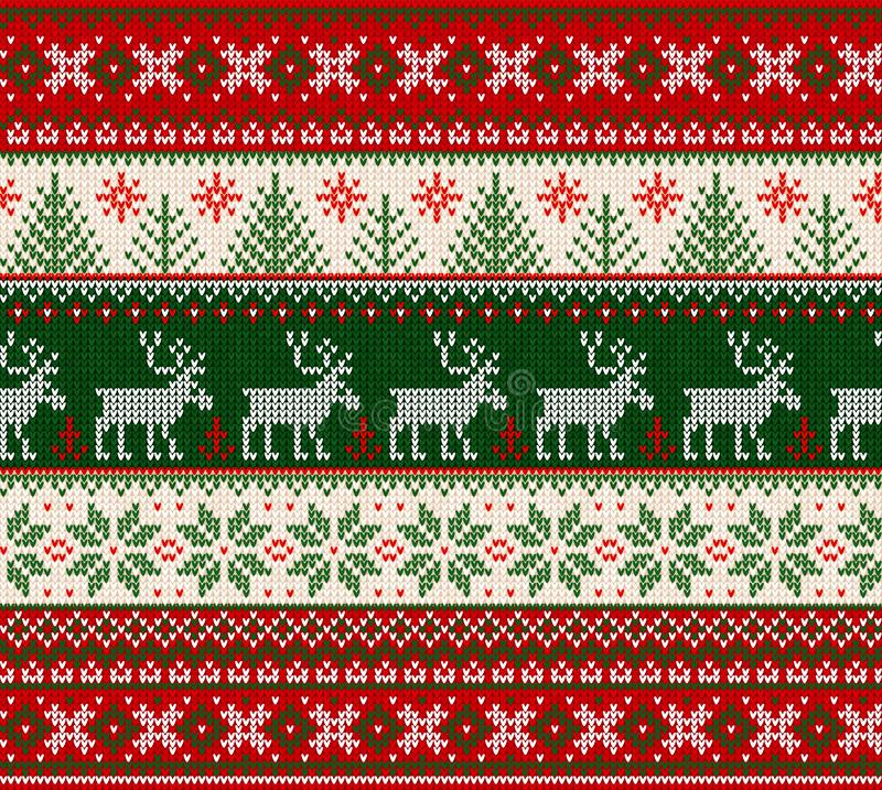 Free Ugly Sweater Merry Christmas Happy New Year Seamless Pattern Frame Stock Images - 131985304