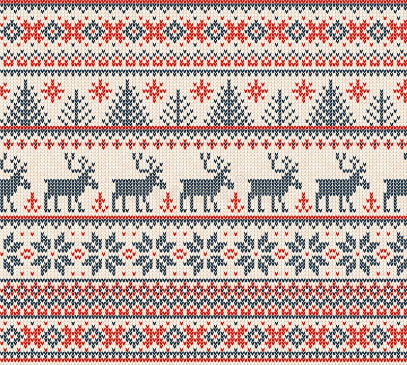 Free Ugly Sweater Merry Christmas Happy New Year Seamless Pattern Frame Stock Images - 132085964