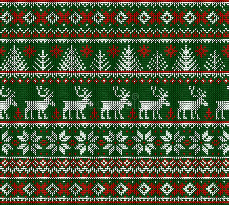 Free Ugly Sweater Merry Christmas Happy New Year Seamless Pattern Frame Stock Images - 132088264