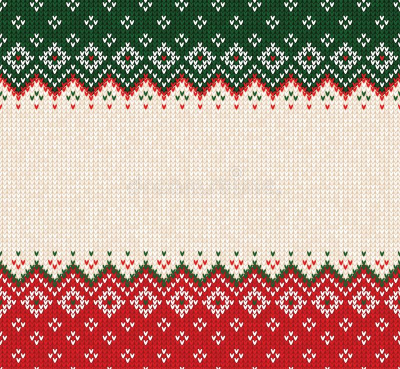 Free Ugly Sweater Merry Christmas Ornament Scandinavian Style Knitted Background Seamless Frame Border Royalty Free Stock Image - 153650766