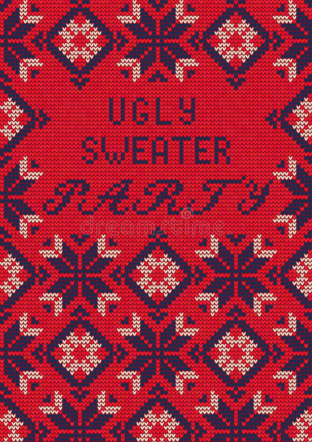 Ugly Sweater Party Stock Vector Illustration Of Poster - Ugly sweater flyer template free
