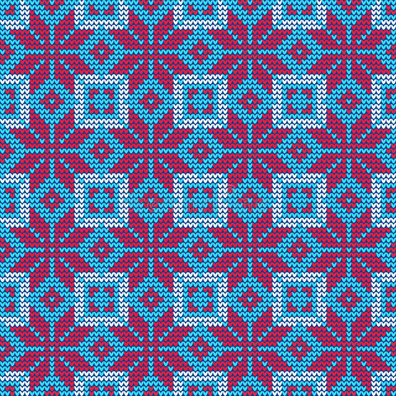 Ugly sweater Pattern royalty free illustration