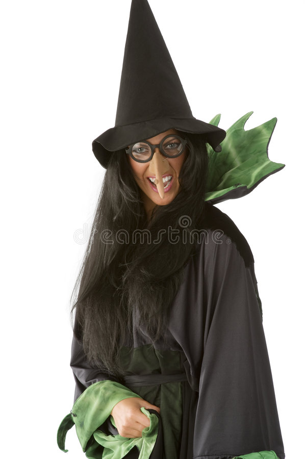 Ugly witch royalty free stock photography